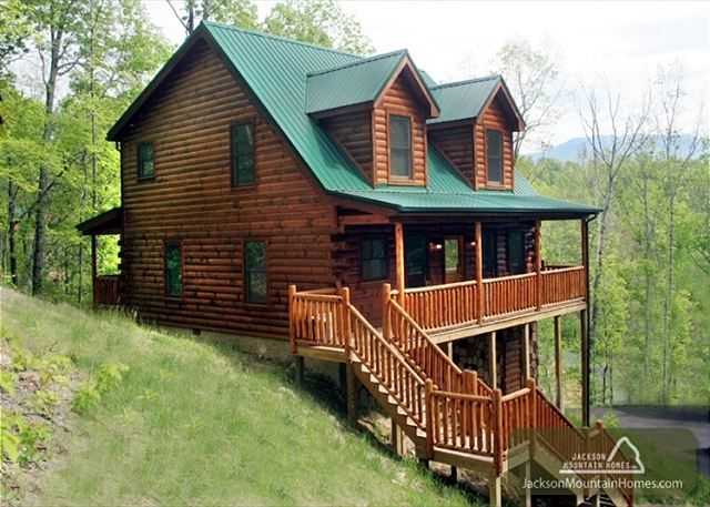 Pin by jackson mountain homes on pet friendly cabins in for Jackson cabins gatlinburg tenn