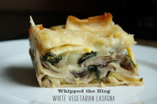 Butternut squash and shiitake mushroom lasagna