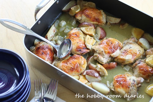 chicken from nigella chicken lemons and garlic slow roasted until ...