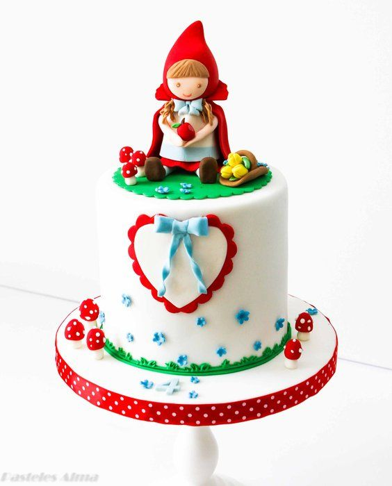Little red riding hood - by AlmaPasteles @ CakesDecor.com - cake decorating website