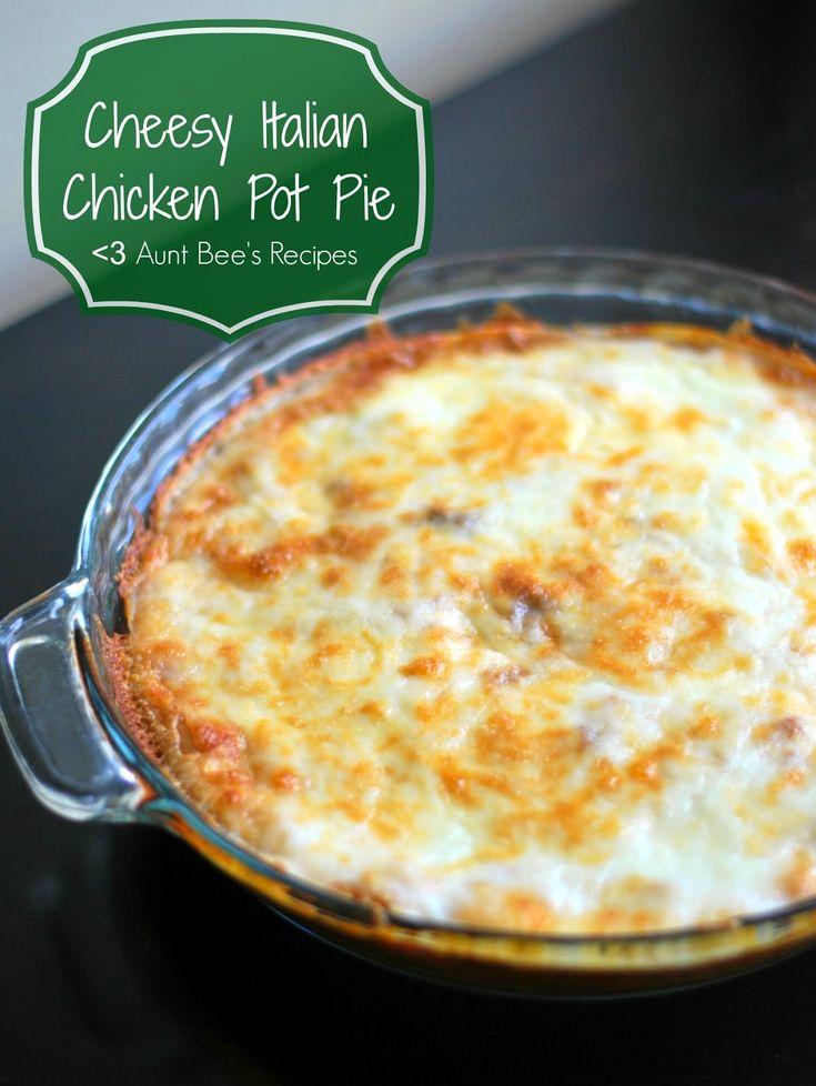 Cheesy Italian Chicken Pot Pie | | good eats | Pinterest