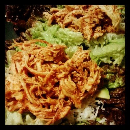 Paleo shredded chicken lettuce tacos! | My Kind of Eatin'! | Pinterest