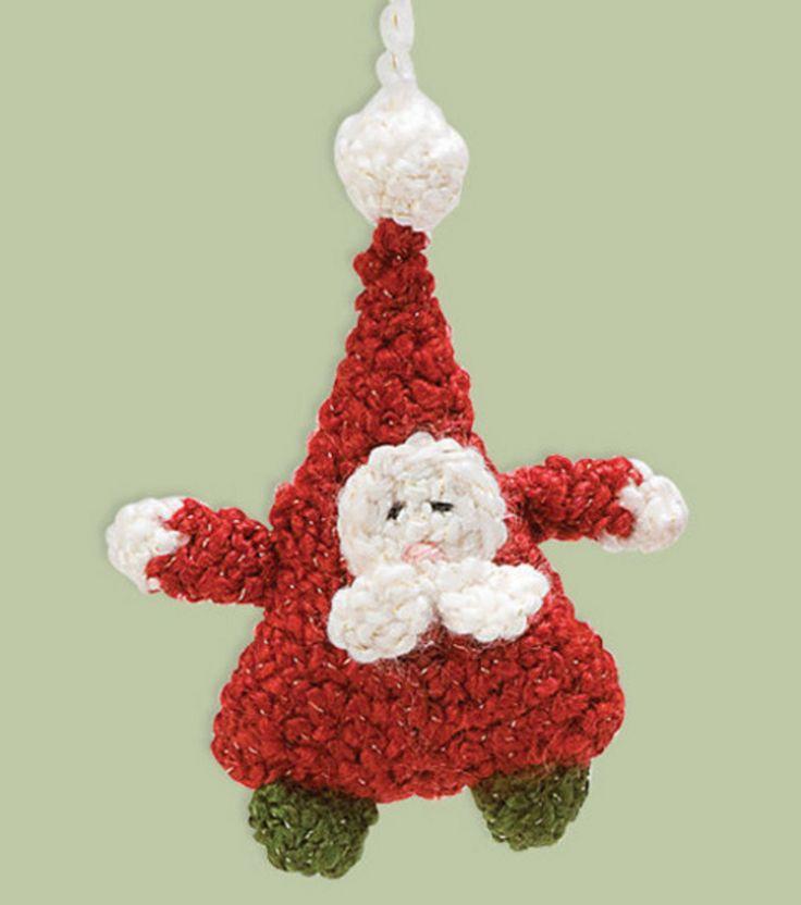 Tiny Crochet Doll Patterns : Amigurumi Santa Ornament Christmas Crochet Pinterest
