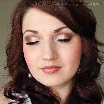 Gold Makeup For Wedding : Rose gold eyesshadow Bridal Makeup Inspiration Pinterest