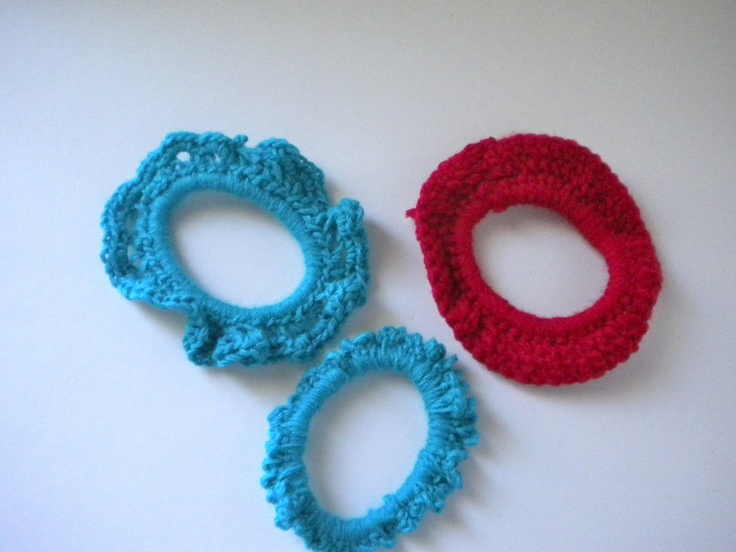 Crochet hair bands Agora Pinterest