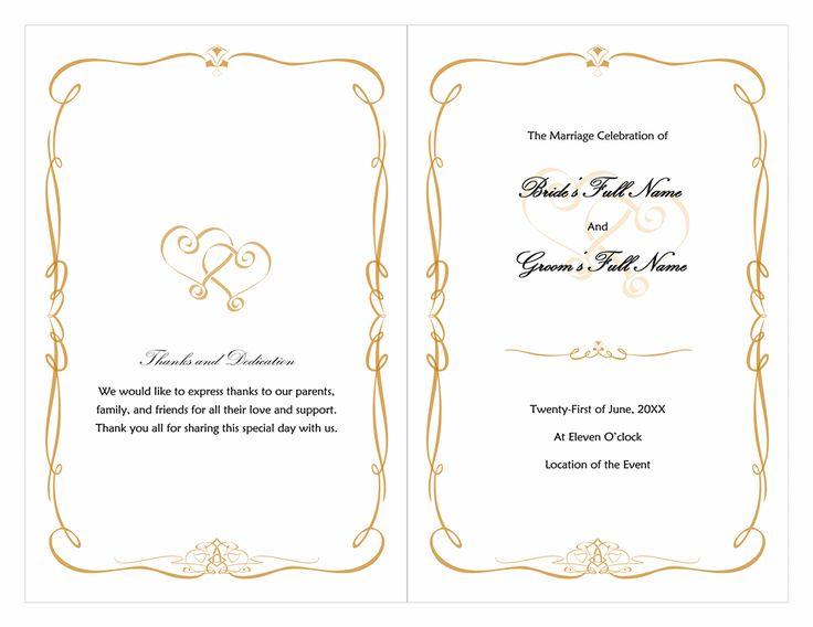 microsoft wedding program templates free