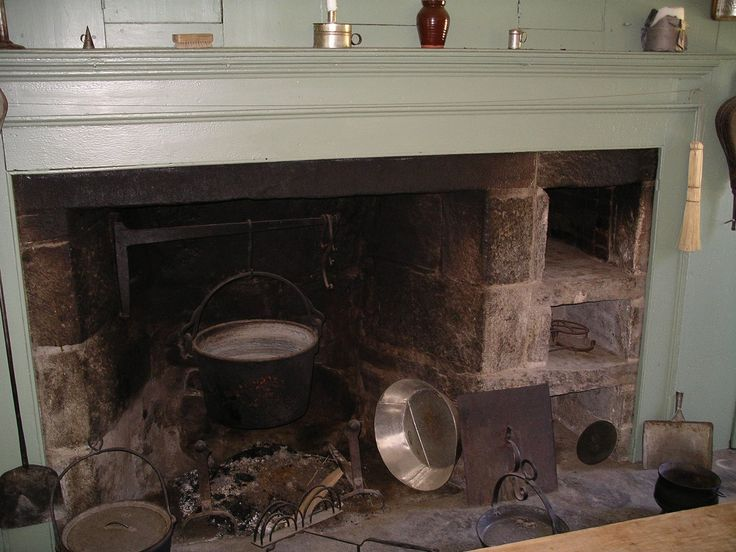 New England fireplace