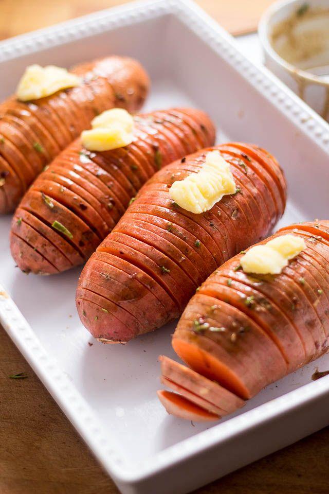 Hasselback Sweet Potatoes | Recipe
