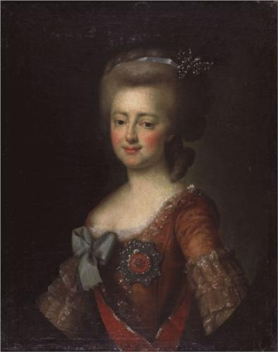 Portrait of grand duchess maria feodorovna dmitry levitzky 1785
