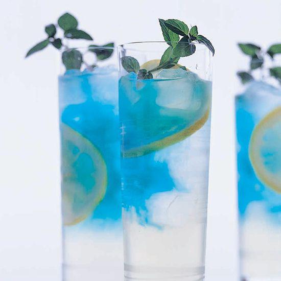 Black currant vodka, lemonade, blue curaçao, mint // More Beautiful ...