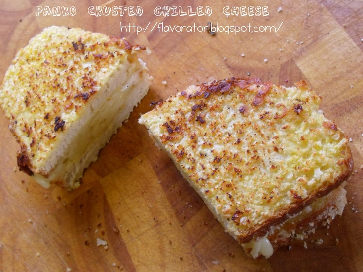 Panko Crusted Grilled Cheese | Yummy FOOD | Pinterest