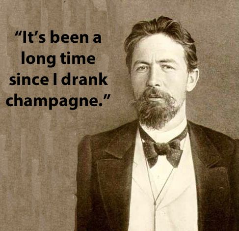 Famous Authors' Last Words: On his death bed, Anton Chekhov requested morphine and champagne from his doctor right before he passed away.