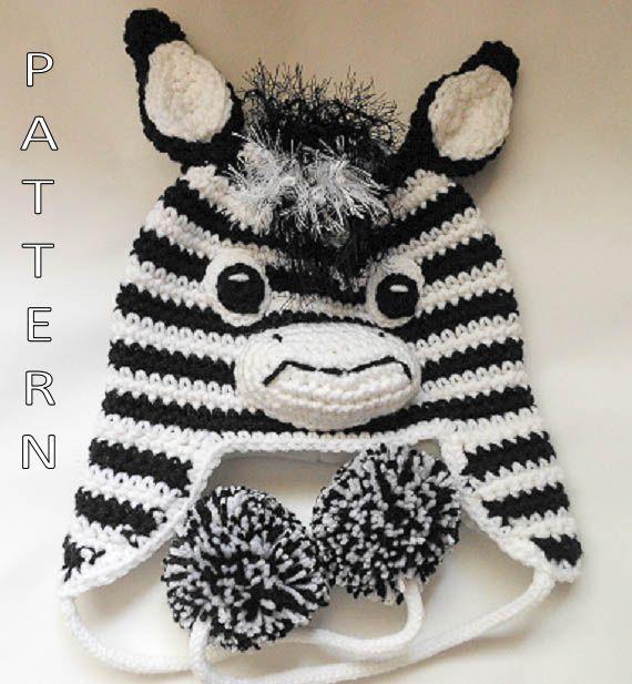Crochet Zebra Hat : Hat Crochet