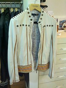 Just Cavalli Mens Awesome Butter Soft Leather Jacket $3K Retail Sz 54