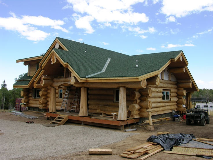 Ranch Style Log Home My Log Cabin Pinterest