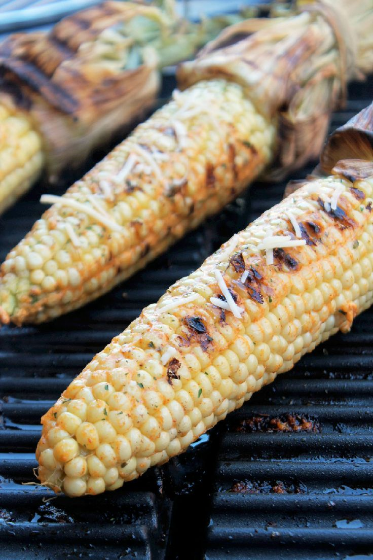 Grilled Cheesy Corn on the Cob | Looks Yummy! | Pinterest