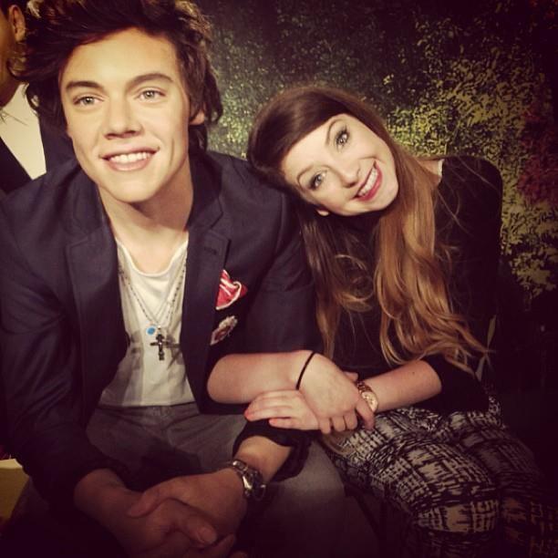 Zoella & Harry Styles at Madame Tussauds.. | Beauty gurus | Pinterest