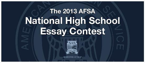 Afsa essay contest