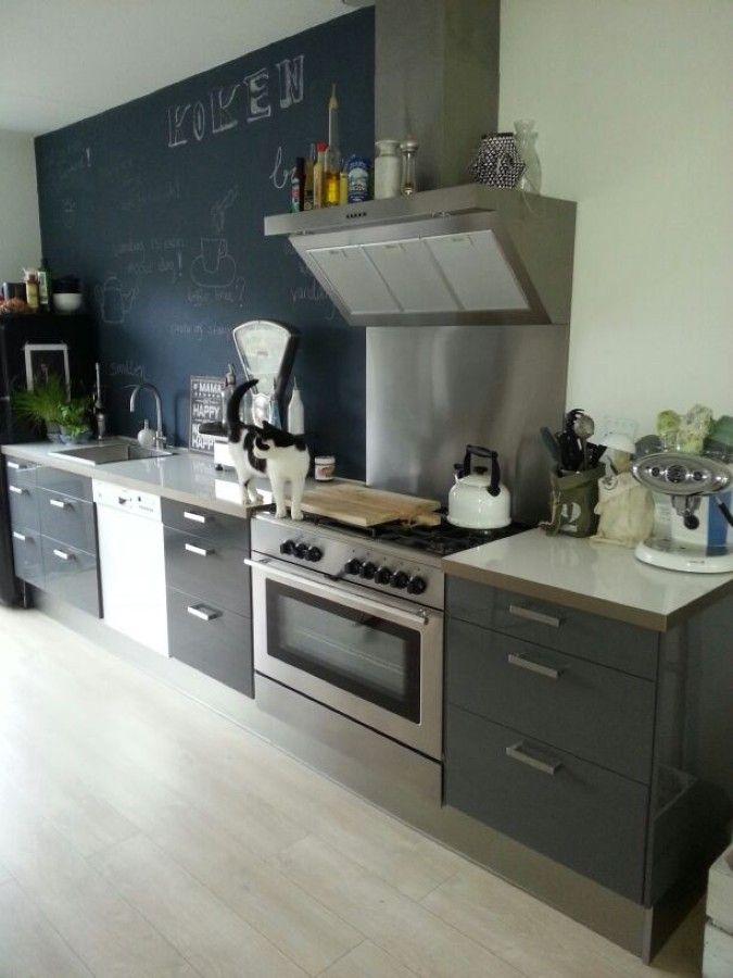 keuken zonder bovenkastjes  Kitchen  Pinterest