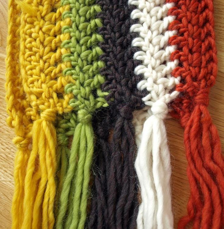 Crochet Multiple Colors : Crocheted Scarf, multi-color crochet scarfs Pinterest