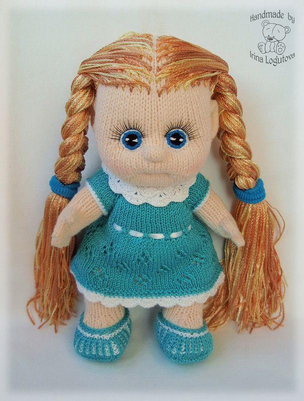 Как связать куклу своими руками спицами 9