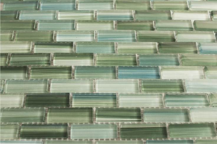 hand painted glass subway mosaic tile kitchen backsplash bathroom