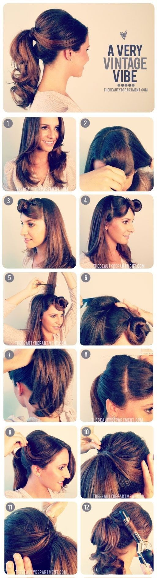 Быстро сделать прическу на средние редкие волосы самой