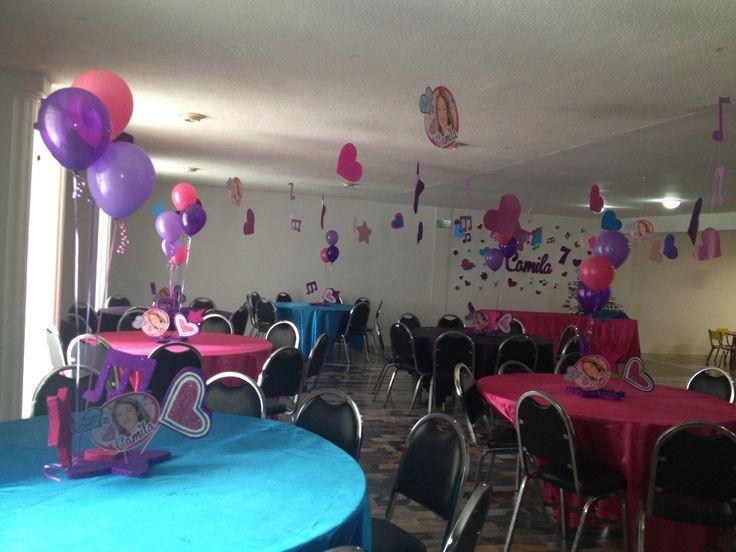Violettaparty decoration decoraci n fiesta violetta - Decoracion de techos ...