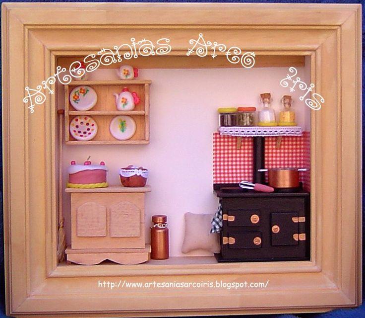 Cuadro cocina de campo haya cuadros con profundidad for Cuadros pequenos para cocina