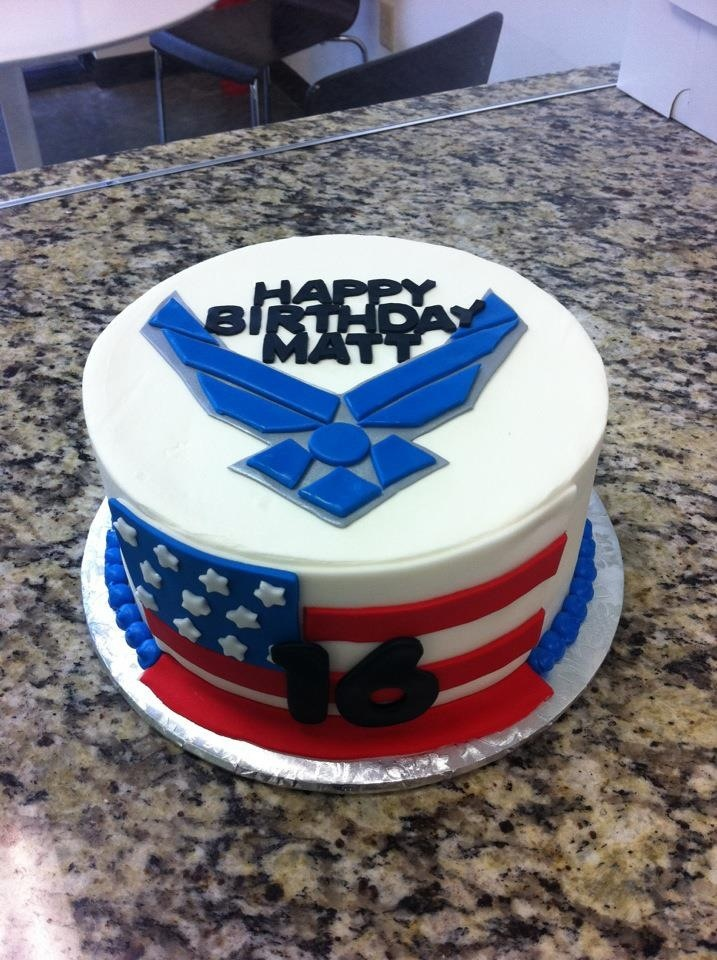 Us air force cake ideas and designs for Air force cakes decoration