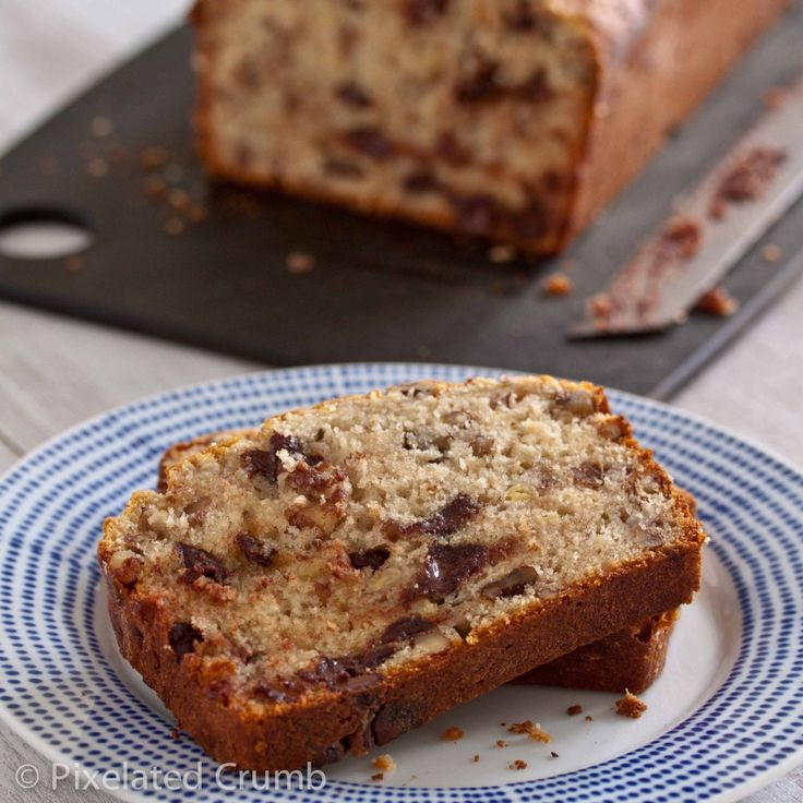 Bourbon and Chocolate Chip Banana Bread. Mini loaves are way better ...