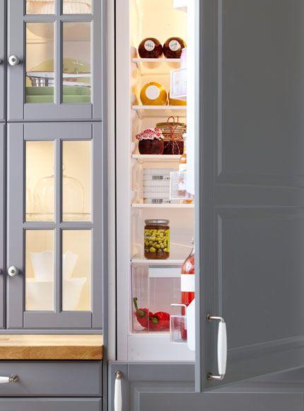 Kok Gratt Ikea : kok grott ikea  BODBYN luckor, EFFEKTFULL integrerad kyl frys