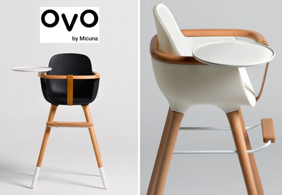 Functional and aesthetic baby high chair ovo by micuna design baby