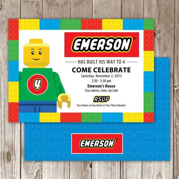 Lego Invitations | Party Invitations Ideas