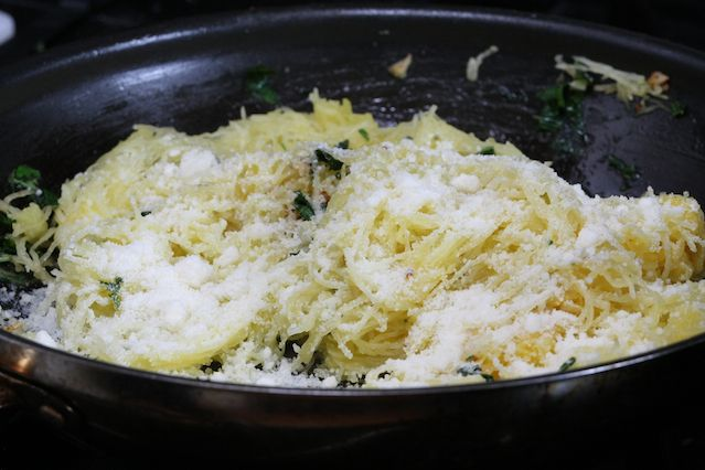 Spaghetti Squash with Garlic and Butter recipe pictures