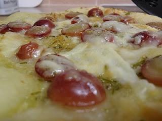 Red Grape Pizza with Rosemary, Honey, and Pecorino