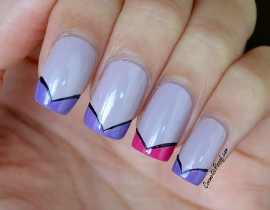 The Prom Show | Funky French Manicure | Nails | Pinterest