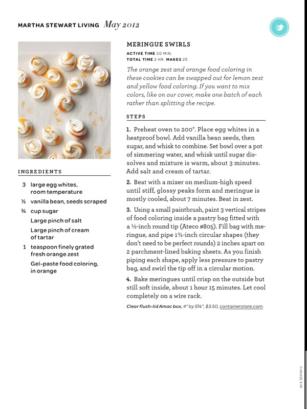 Meringue swirls   recipe   Pinterest
