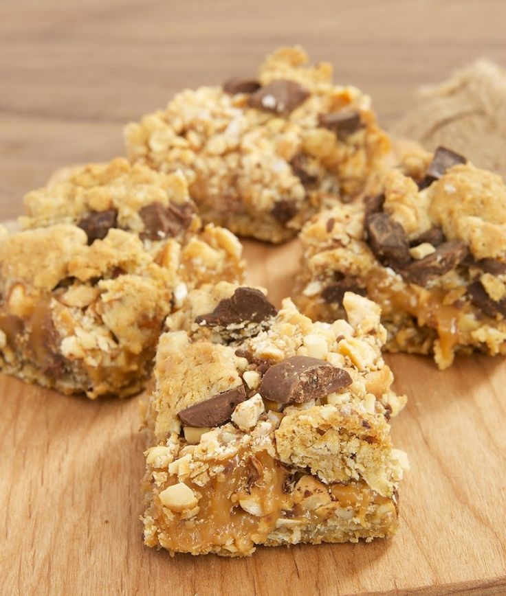 Salty Cashew-Caramel Bars are packed with caramel, nuts, chocolate ...