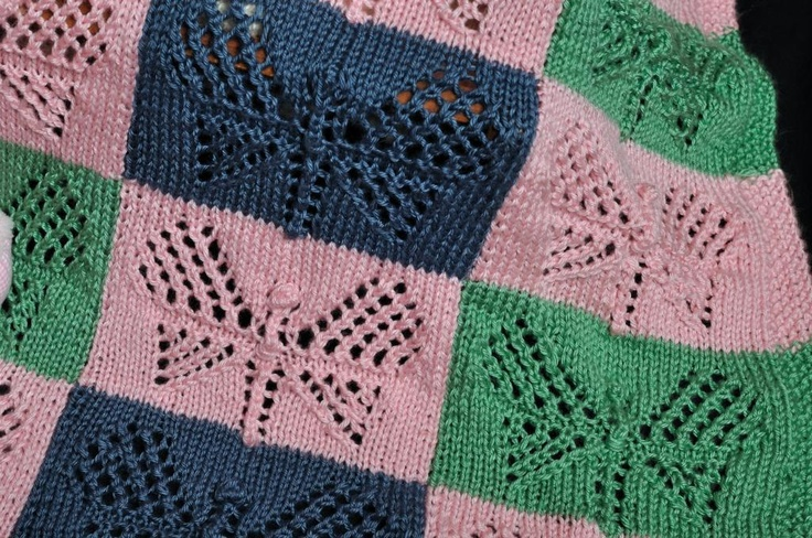 Butterfly Baby Blanket Knitting Pattern : Butterfly Baby Blanket Knitted Blankets and Pillows Pinterest
