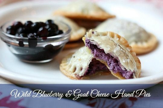 {recipe} Wild Blueberry Ginger Goat Cheese Hand Pies - these sound amazing