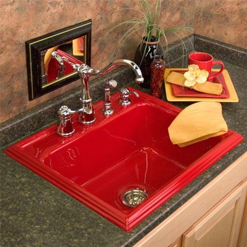 Red Kitchen Sink : ... Shannock Red Single Bowl Kitchen Sink Corstone Industri