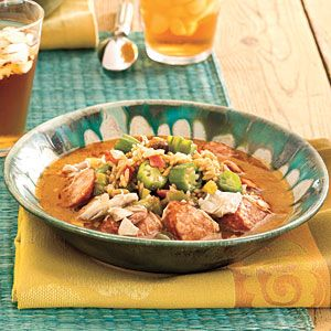 ... dinner. The gumbo and our Okra Pilau can be ready in 48 minutes