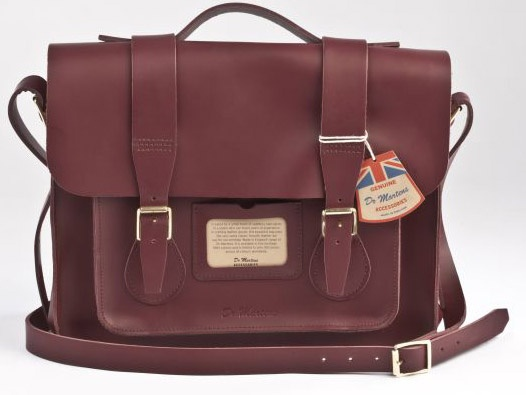Love Satchels!     Dr. Martens Leather Satchel in Cherry Red Smooth. $198