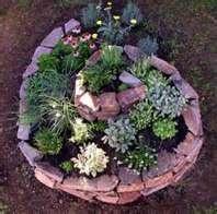 Herb or succulent garden idea.
