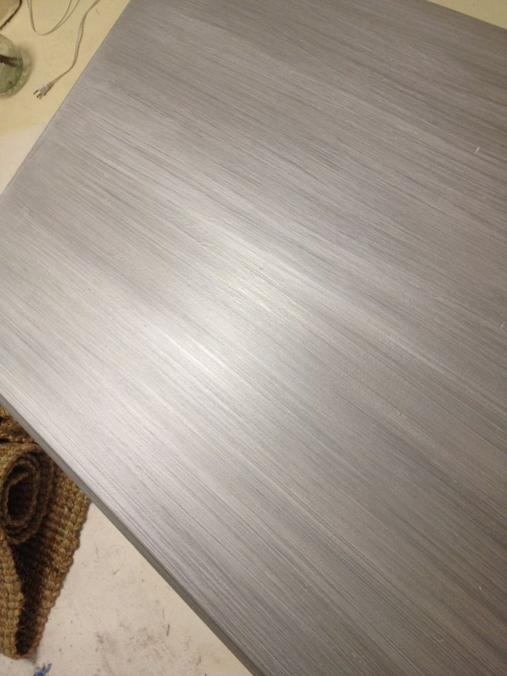 How To Paint Metallic Silver Furniture Diy Pinterest