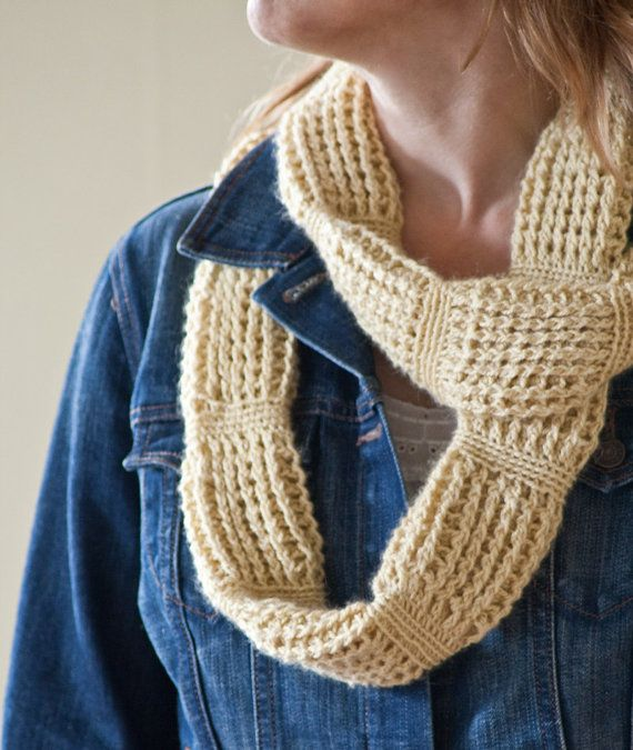 Crochet Infinity Scarf Pattern - Cable Links - Infinity Tube Scarf
