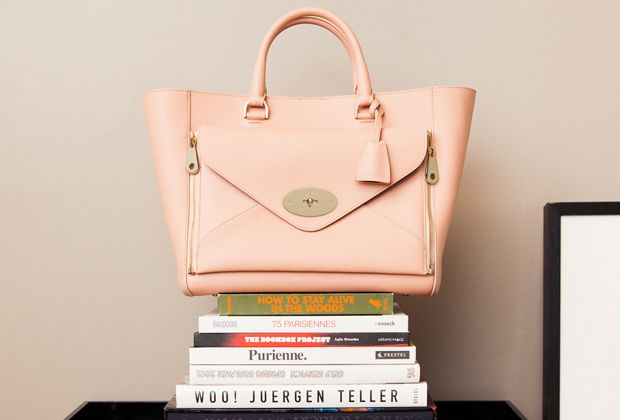 Nothing goes better with a stack of books than a little Mulberry.