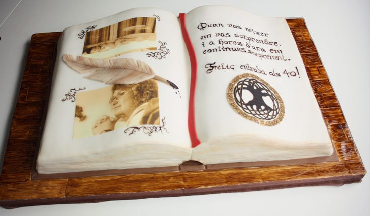 Cake Decorated Like Books : open book cake - tarta libro My pins Pinterest