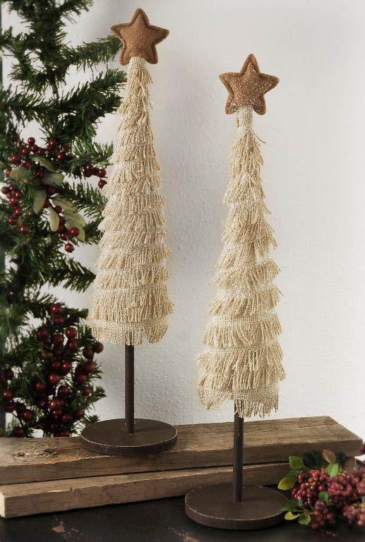 Burlap Christmas Trees 2pc | Christmas Ideas | Pinterest